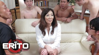 Erito - Hot Asian Girl Getting Her Pussy Pounded In Gangbang