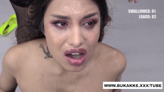 Roxy Lips Strips and Sucks for Cum Feast - bukkake.xxx