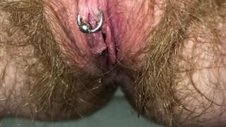 Toilet POV Hairy Pussy Sneaky Pee