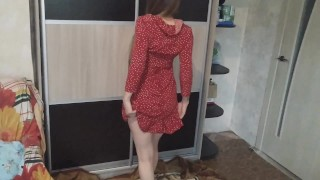 Hard fuck the wife in red dress