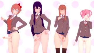 Doki Doki Futanari Club: All girls taker | POV