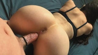 His Big Veiny Cock was almost Too Much for My Tight Little Pussy
