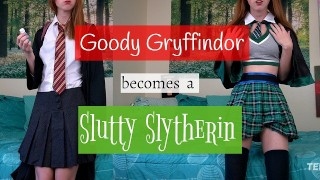 Goody Gryffindor becomes a Slutty Slytherin [Ginny Weasley Potion JOI]