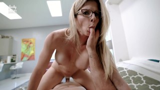 Step Mom Catches Me Jerking Off to her Only Fans Page - Cory Chase