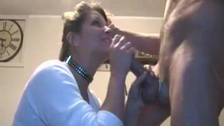 My Friends Hot Mom Sucks and Plays with my Hard Young Cock.