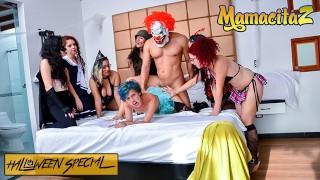 CarneDelMercado - HALLOWEEN Siarilin Martinez And Elisa Odiosa Latina Colombiana 3some - MAMACITAZ