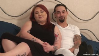 Chubby redhead amateur gets fucked by her boyfriend