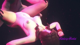 Final Fantasy VII Hentai 3D - Aerith is fucked in Honeybee Club