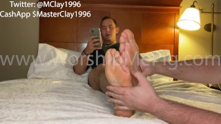 Army Master Clay Story Time - Fan Fiction told from the slave Perspective w/ RealTime foot Worship
