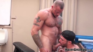 HAIRYANDRAW Inked Hunk Sean Duran Fucks Ass in his Backyard