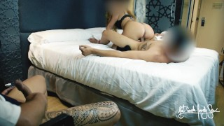 HUBBY WATCHES HIS WIFE FUCKED BY BESTFRIEND. SHE MADE HIM CUM TWICE. HOTEL CUCKOLD VIDEO FANTASY
