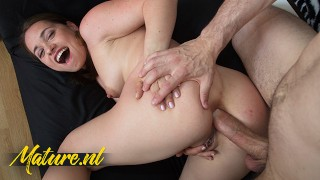 Sexy Mom Olga Cabaeva Gets Her Asshole Destroyed By a Big White Dick
