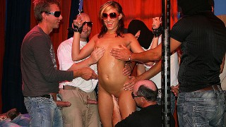 her first german gangbang orgy