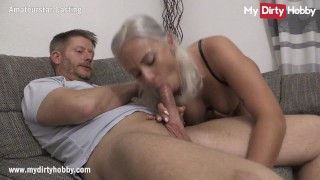 MyDirtyHobby - Gorgeous busty blonde does her first casting