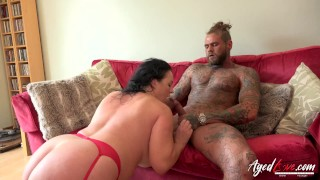AgedLovE Hot Mature Lady Blowjob and Licking