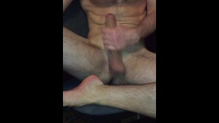 Straight guy jerking off