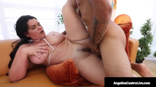 Dick Hungry BBW Angelina Castro Sucks & Fucks Delivery Dude!