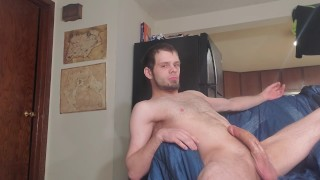 Solo Sunday Part 8: HUGE cock. HUGE cumshot!