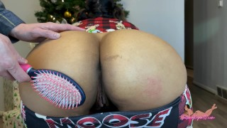 Spanked And Fucked With My New Christmas Toy - SelenaRyan