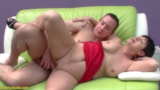 chubby 82 years old mom fucked
