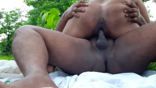 Big Titty Indian GF Fucked in the Woods Hindi Audio Interview, Risky Public Outdoor Sex Car Blowjob