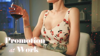 Promotion at work (Sex, blowjob, face fuck)