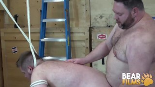 BEARFILMS Big Daddy Breeder Ravaging Young Bear After BJ