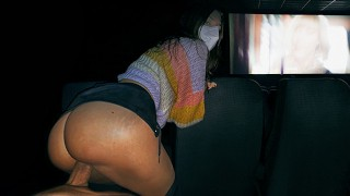Pandemic Sex at the Movies and Surprise Unprotected Creampie