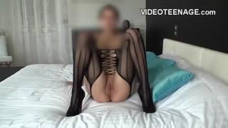 brunette girl first porn casting
