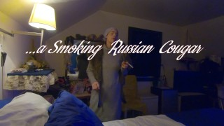 Ginger B a Smoking Russian Cougar after Work Trailer