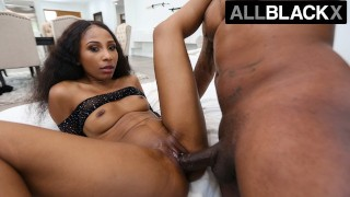 AllBlackX - Beautiful Ebony Babe Loves Hard Pounding