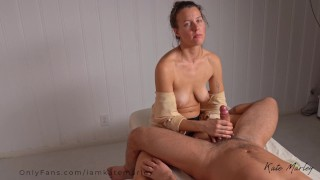 Relaxing, Slow, Sensual Tantric Lingham Massage Ends with Creampie - Kate Marley