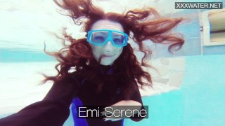 Hot underwater pool masturbation of Emi Serene