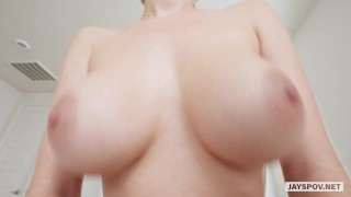JAY'S POV - MY STEP SISTER SKYE BLUE HAS PERFECT NATURAL TITS