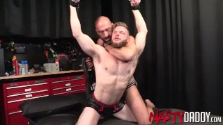 NASTYDADDY Wild Brian Bonds Spanked And Fucked By Bald Hunk