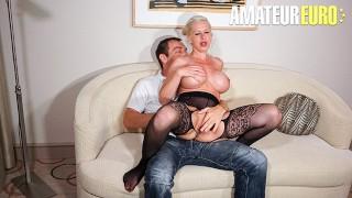 SexTapeGermany - Manu Magnum Huge Tits German Blonde Close Up Pussy Fuck On Camera - AMATEUREURO