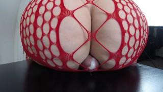 "Close Up Cameltoe Sliding With Ass Job Finish  Big Beautiful 44"" Butt Bounces On Cock & Balls"