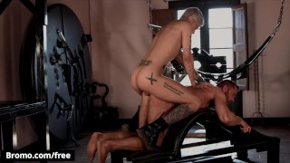 Bromo - Tattooed Stallion Tyler Berg Thrusts His Big Hard Cock Deep Inside Mickey Taylor's Mouth