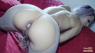 this perfect ass blonde gets her ass destroyed with ripped pantyhose (italian) 4K