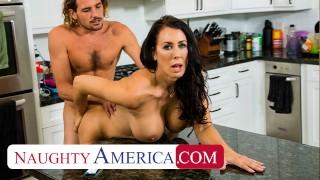 Naughty America - Hot Mom Reagan Foxx fucks and sucks on cock