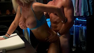 Stepmom pounds Son in Daddy's Closet...REAL FUCK SCENE caught on Security CAMS