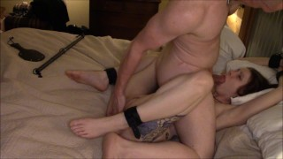 I Tie Up, Spank, and Fuck Hot Red Head Hard