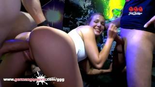 Tight Blonde Teen Pussy Gangbanged - German Goo Girls