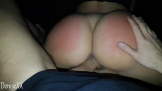 Gorgeous college girl DeniseXX fucked hard and spanked well. Real amateur sex.