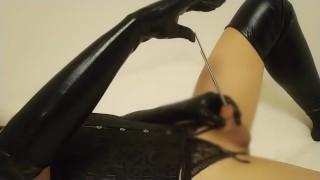 【偽娘】 尿道扩张手淫 Bougie 8mm