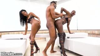 XEmpire - Gorgeous Ebony Duo Zaawaadi & Asia Ra Fucked By BBC