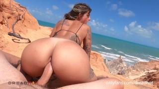 FUCKING BETWEEN CLIFFS INTO A BRAZILIAN PARADISE -DREAD HOT