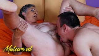 Hot Granny Gets Hairy Pussy Eaten & Fucked By ToyBoy