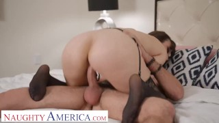 Naughty America - Lexi Luna gets dick from her son's friend while the party rages outside