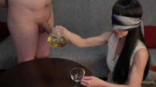 I drink pis tea, lick ass and then I get cum in my mouth.
